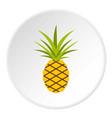 pineapple icon circle vector image