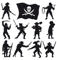 Pirates crew silhouettes SET 2 vector image