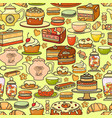 seamless pattern include confectionery vector image