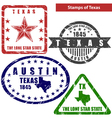 Texas in stamps vector image
