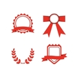 Red award labels set vector image vector image