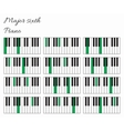 Piano major sixth interval infographics vector image