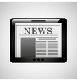 tablet news online icon design vector image