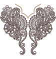 Neckline embroidery fashion vector image vector image