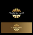 gold round company logo vector image