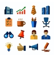 office and business icons vector image vector image
