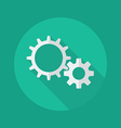 Technology Flat Icon Gears vector image