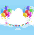 background template with balloons and flags in vector image