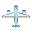 cargo airplane icon image vector image