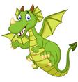 Cute cartoon dragon vector image
