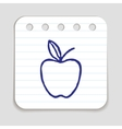 Doodle Apple icon vector image