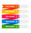 infographics elements process diagram vector image
