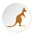 kangaroo icon circle vector image