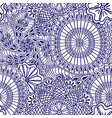 mehendi seamless pattern of blue with white color vector image