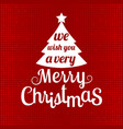 merry christmas with glitter background vector image