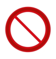 prohibited round sign road vector image
