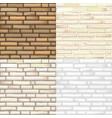 set of brick textures vector image