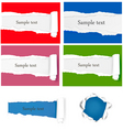 Set with ripped papers vector image