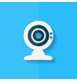 Web camera icon Flat design vector image