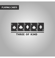 black and white style three of a kind vector image
