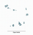 Doodle sketch of Cape Verde map vector image
