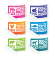 Food Stickers vector image vector image