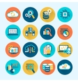 Database Analytics Icons Flat vector image