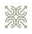 Logo Design Letter C Arrow Brown Icon Symbol vector image