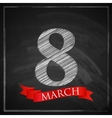 8 march Womens Day greeting card with number eight vector image