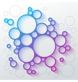 Abstract infographics blue and purple gradient vector image
