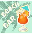 Coctail beach vector image