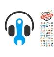 Headphones Tuning Wrench Icon With 2017 Year Bonus vector image