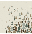 Many peoples connect vector image
