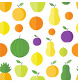 seamless pattern fruits and berries vector image