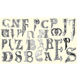 Various medieval capital letters vector image