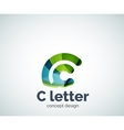 C letter concept logo template vector image