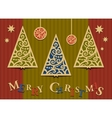 Three Christmas trees applique vector image