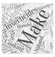 Making Your Own Natural Insecticides Word Cloud vector image