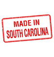 made in south carolina red square isolated stamp vector image