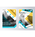 Annual report brochure Leaflet cover presentation vector image vector image