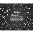 Constellations pattern with Back to School vector image vector image