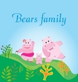 bears family vector image
