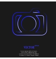 Camera Flat modern web button and space for your vector image
