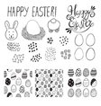easter elements set vector image