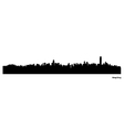 Hong Kong skyline vector image