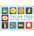 Italian food flat icons vector image