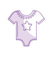 Silhouette baby clothes that used to sleep vector image