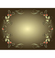 Vintage Frame With Floral Antique Frame On vector image