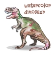 watercolor dinosaur vector image