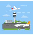 flat style of airport vector image